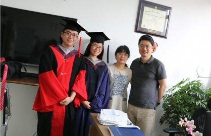 顾新华和阳雨虹于2016年顺利毕业